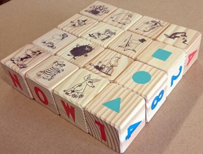 Moomin Wood play cubes